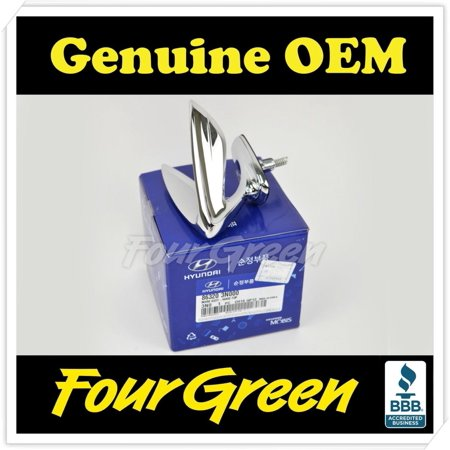 Genuine OEM Hyundai Equus Hood Ornament Wing Emblem 10-16 (Hood Ornament Emblem)