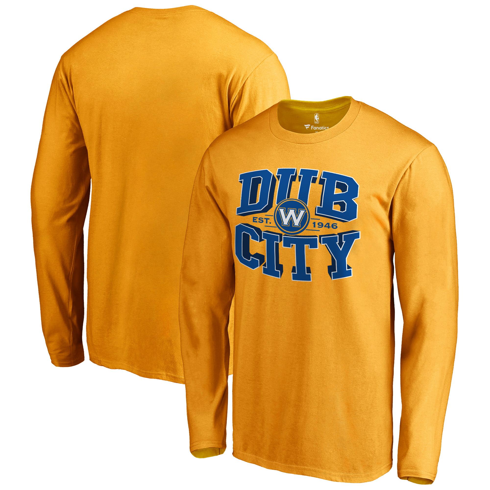 Golden State Warriors Fanatics Branded Hometown Collection Dub City Long Sleeve T-Shirt - Gold