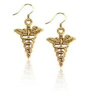 Whimsical Gifts 899G-ER Medical Symbol Charm Earrings In Gold