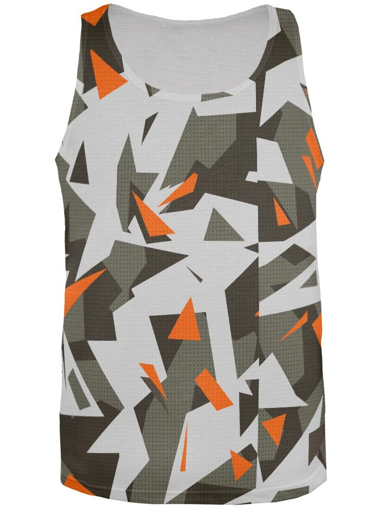 Modern Camo All Over Adult Tank Top