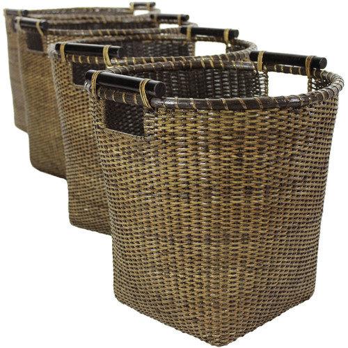 Oriental Furniture Rattan Storage Basket (Set of 4)