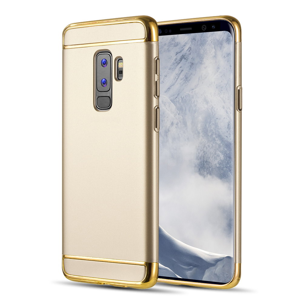 MUNDAZE Gold Luxury Sleek Ultra Thin Case For Samsung Galaxy S9 PLUS Phone