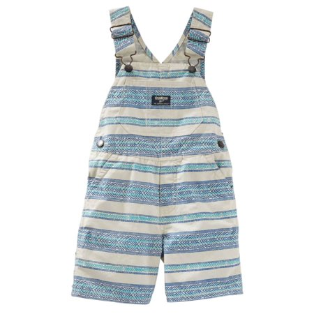 - OshKosh B'gosh Infant Boys Blue Striped Shortall Overalls 3m  - Size - 3 Months