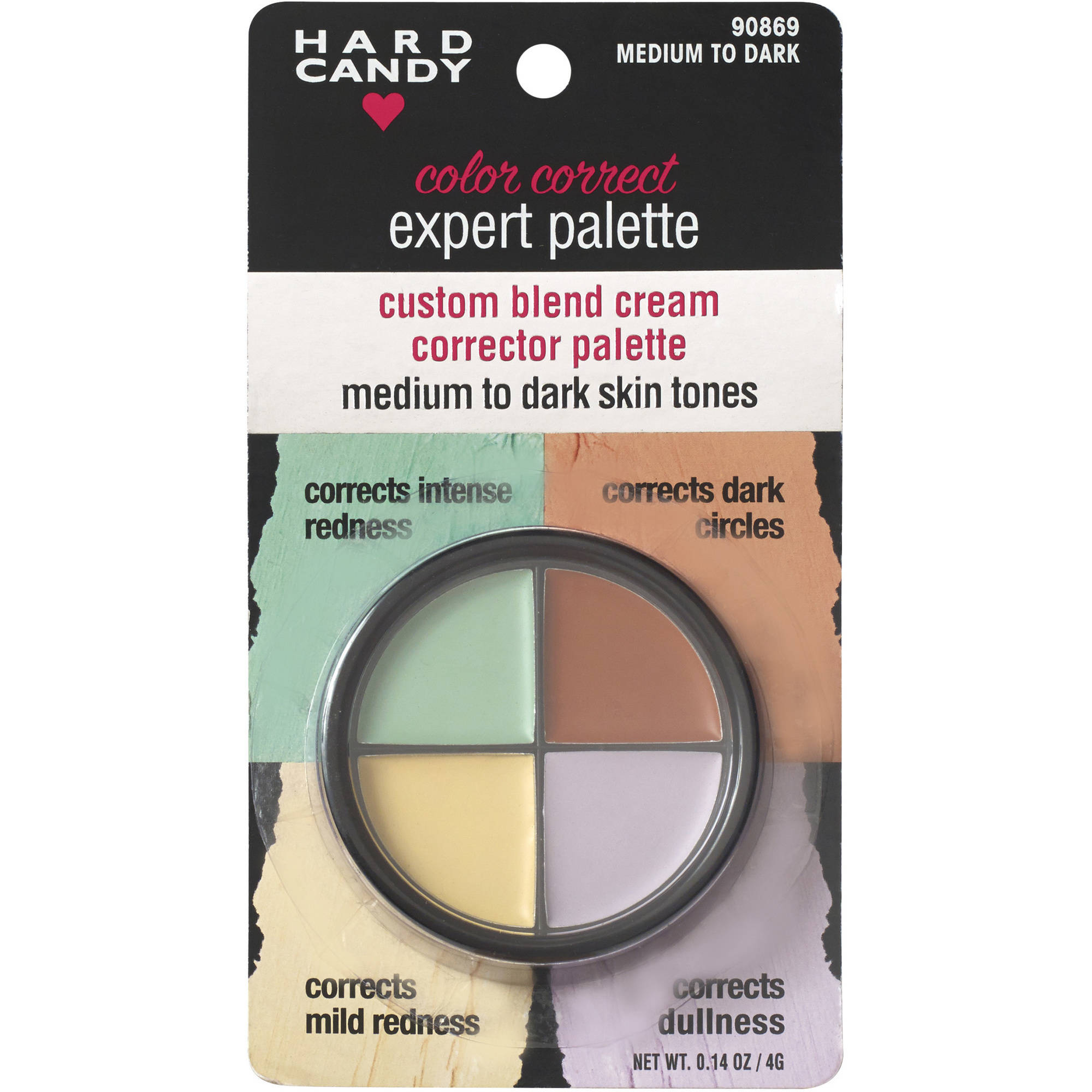 Hard Candy Color Correct Expert Palette, Medium to Dark Skin Tones, .14 oz