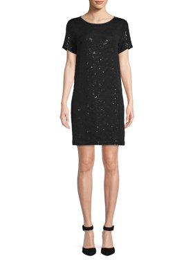 Scoop Sequin T-Shirt Dress Women's