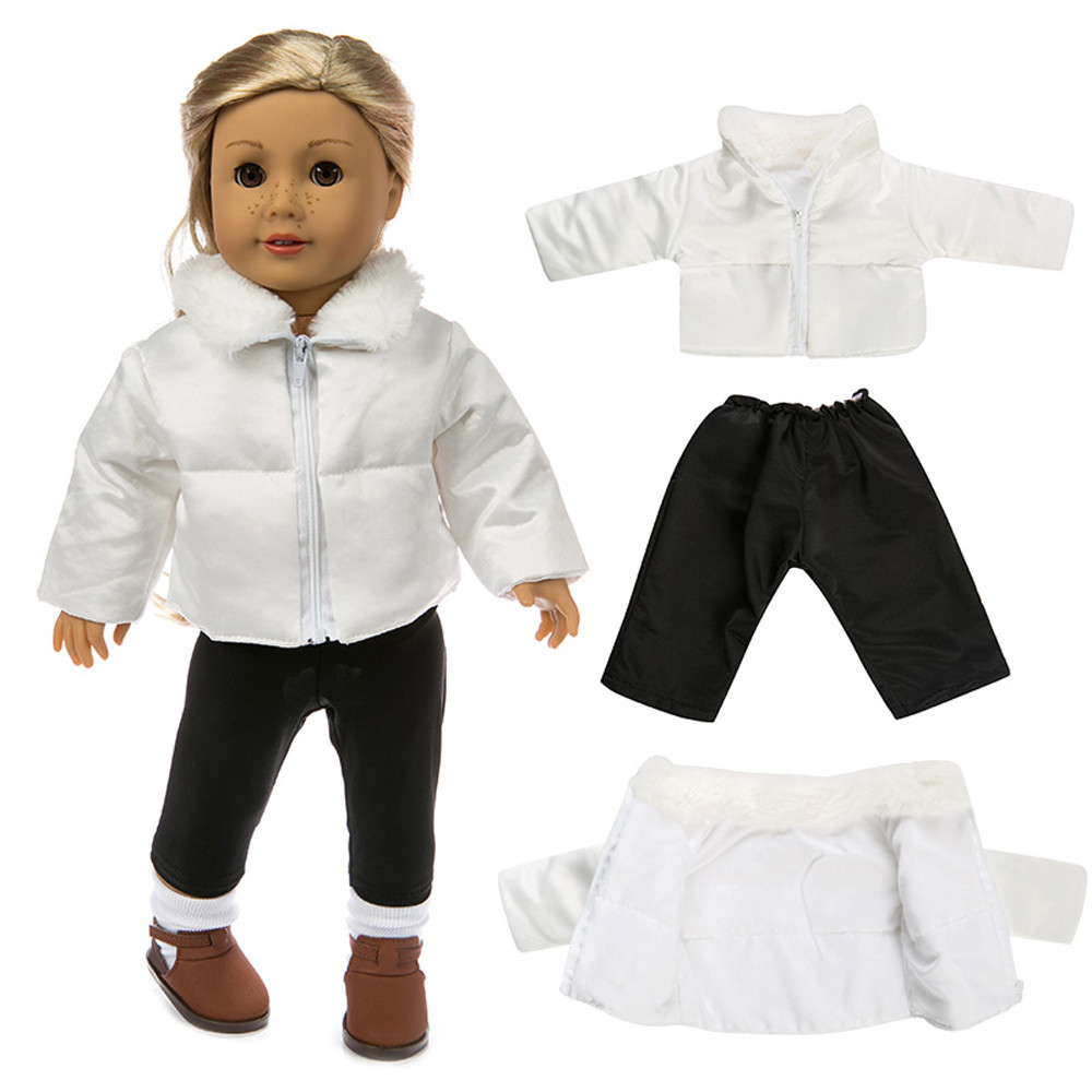 Mosunx Cute Clothes Down Jacket For 18 Inch American Boy Doll Accessory Girl Toy