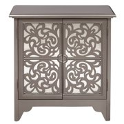 Silver Mirrored Overlay Door Chest