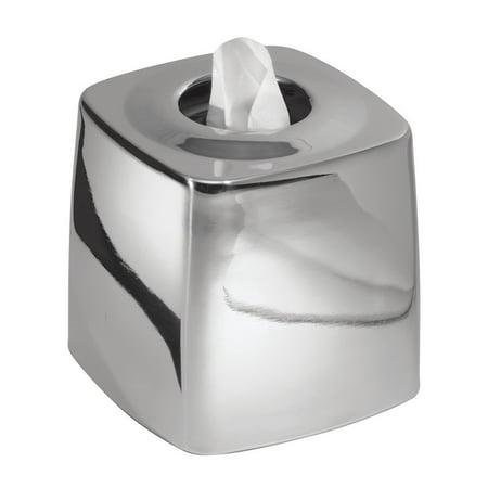 Mdesign Tissue Box Cover Holder For Bathroom Vanity Countertops Polished Stainless Steel