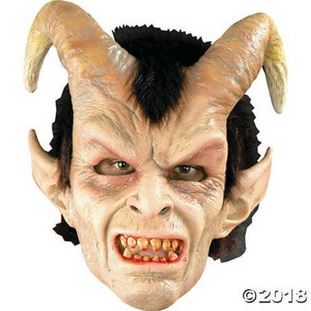 Elegant Devil Horned Scary Monster Latex Adult Halloween Costume Mask