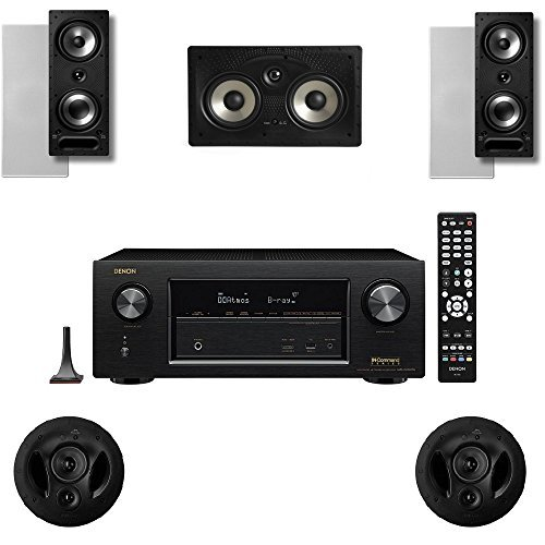 Polk Audio 2265RT 5 Channel Speaker Package with 90RT and Denon AVRX2300W AV Receiver by Polk Audio