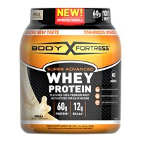 Body Fortress--Super Advanced Whey Protein, Vanilla--Protein Supplement Powder to Build Lean Muscle & Strength*--1-2lb Jar.