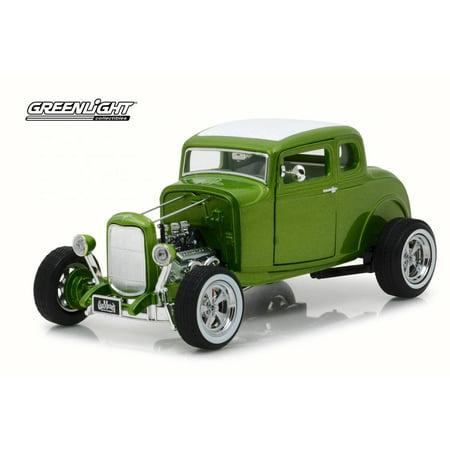 1932 Ford Custom Hot Rod, Gas Monkey Garage - Greenlight 12974 - 1/18 Scale Diecast Model Toy Car (Gas Toy Cars)