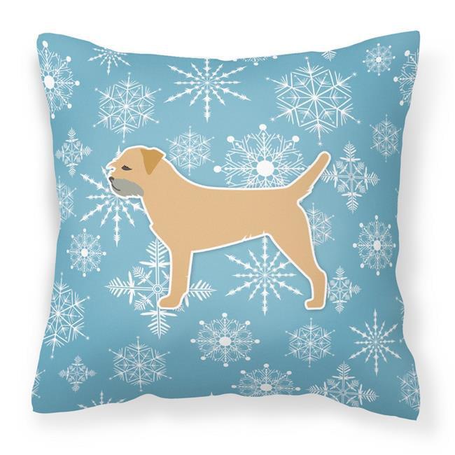 Carolines Treasures Bb3489pw1818 Winter Snowflake Border Terrier Fabric Decorative Pillow Walmart Com Walmart Com