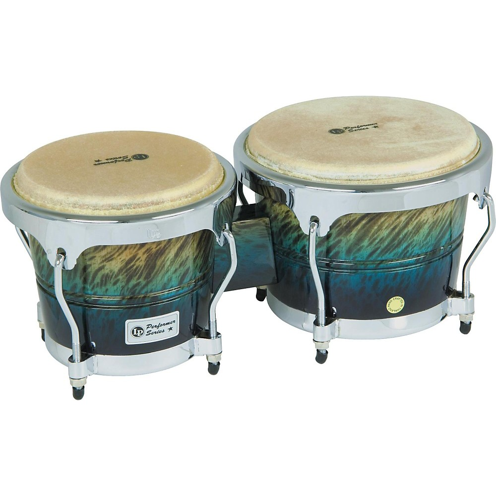 LP Performer Series Bongos with Chrome Hardware Blue Fade by LP