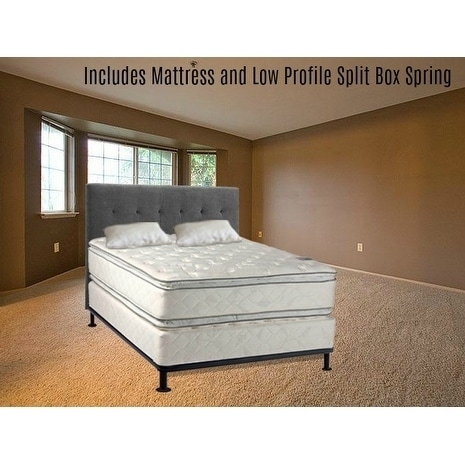 Continental Sleep , Medium Plush Pillowtop Orthopedic type Doublesided Mattress and 5-inch Split