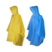 Size one size Rain Poncho with Hood (Pack of 2)