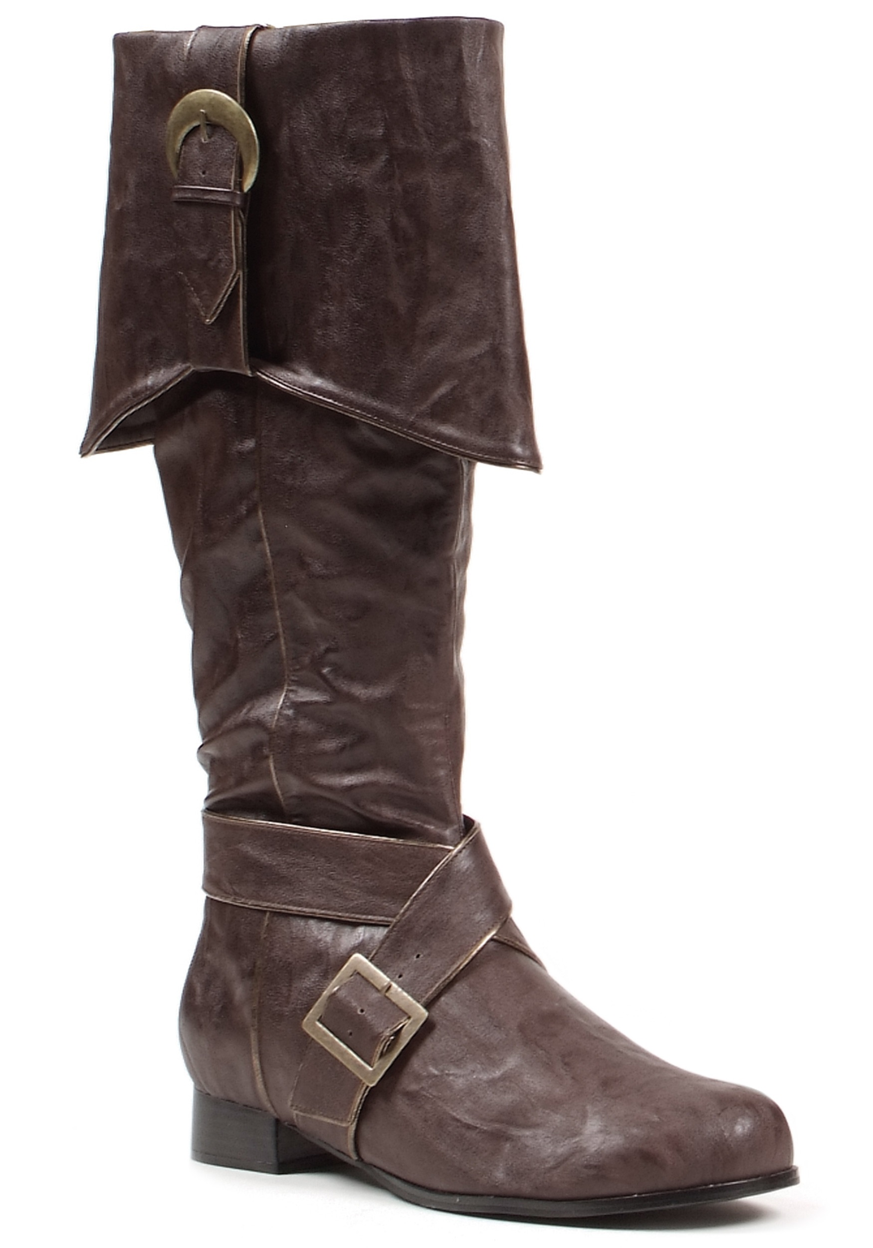 Mens Brown Buckle Pirate Boots Economical, stylish, and eye-catching shoes