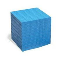 Base Ten Cube Plastic Blue-1/Pk 10X10X10Cm