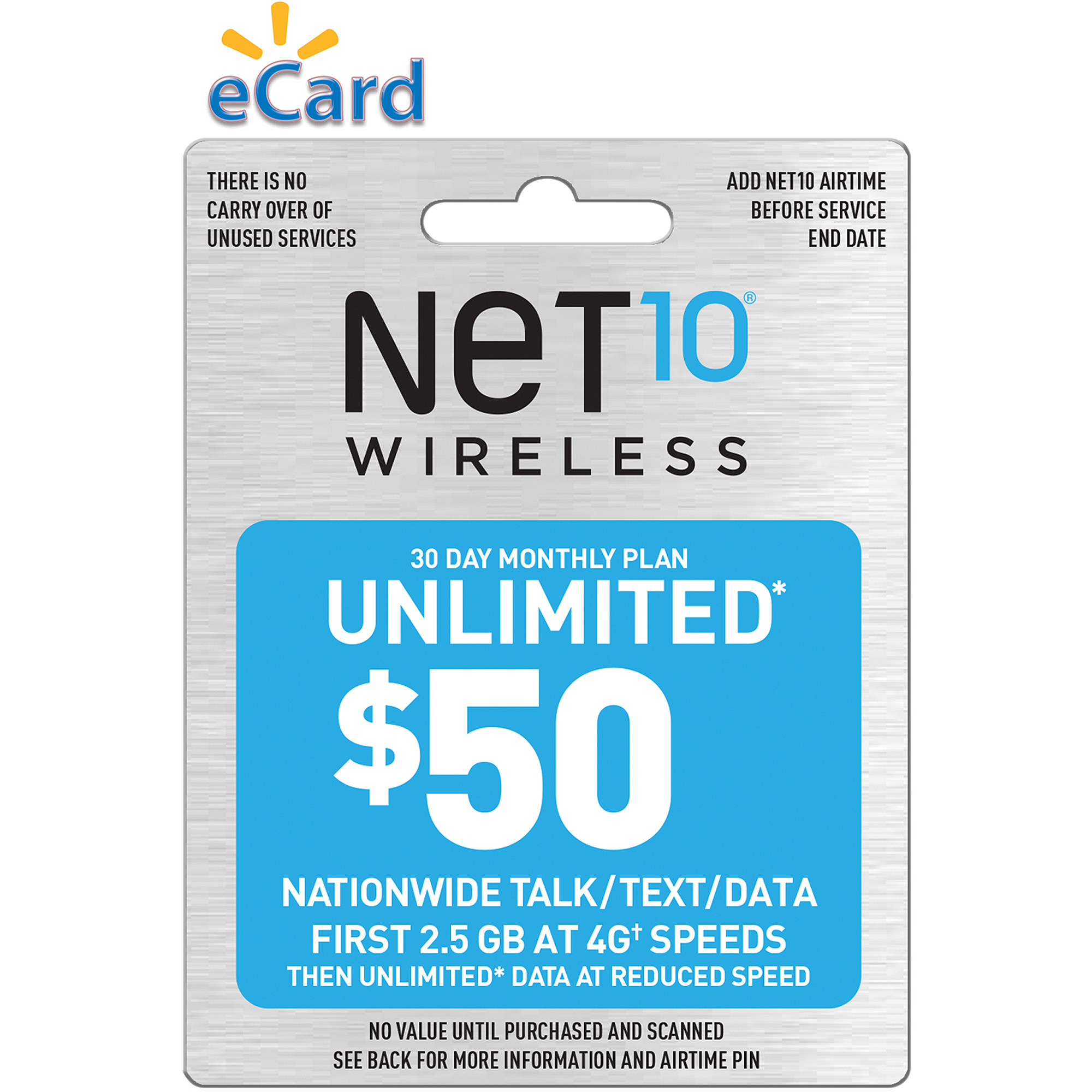 NET10 Direct Load $50 (Email Delivery)