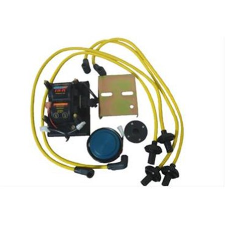 Bosch Distributor Parts Kit (Pertronix P71-11100Y Compu-Fire DIS-IX Distributorless Ignition System with Yellow Plug Wires for Bosch 009 Distributor )