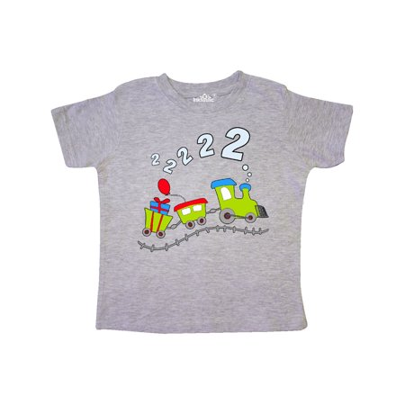 2nd Birthday Party Train Toddler T-Shirt