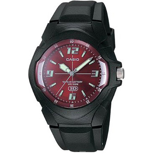 Casio Men's 10-Year Battery Sport Watch, Black Resin Strap