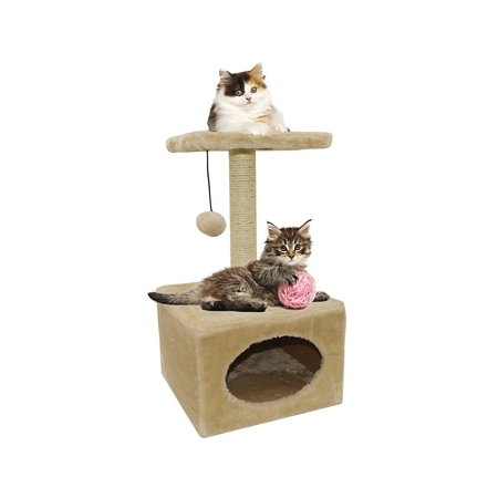 Cat Scratching Post With Bed On Top