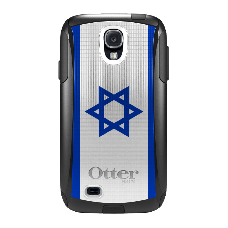 DistinctInk Custom Black OtterBox Commuter Series Case for Samsung Galaxy S4...