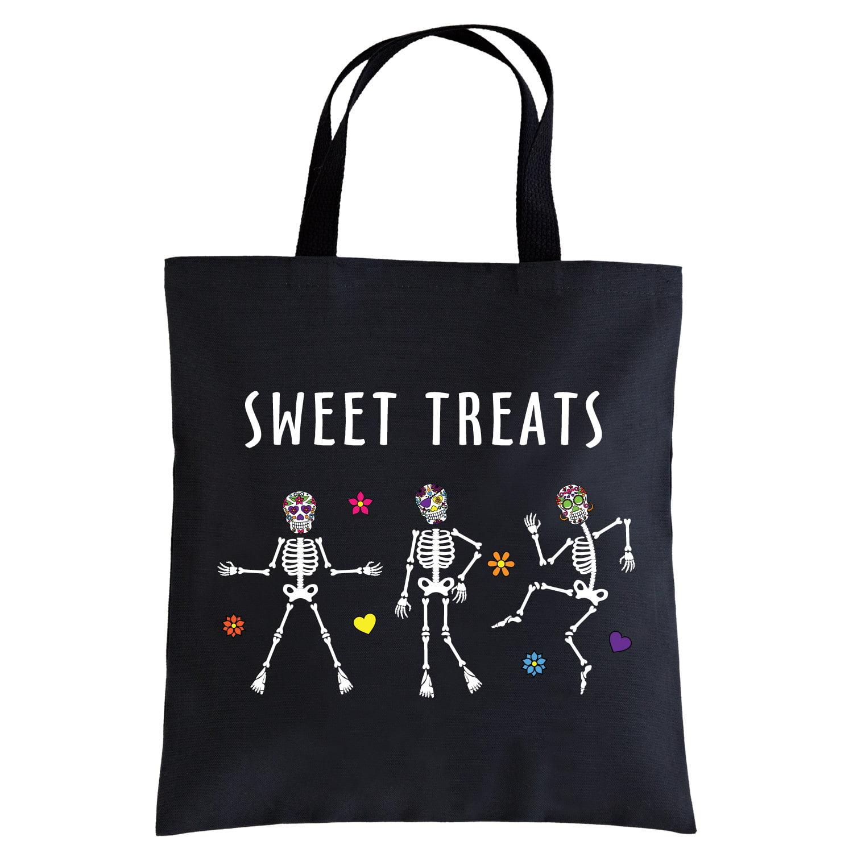 Personalized Dancing Skulls Halloween Treat Bag