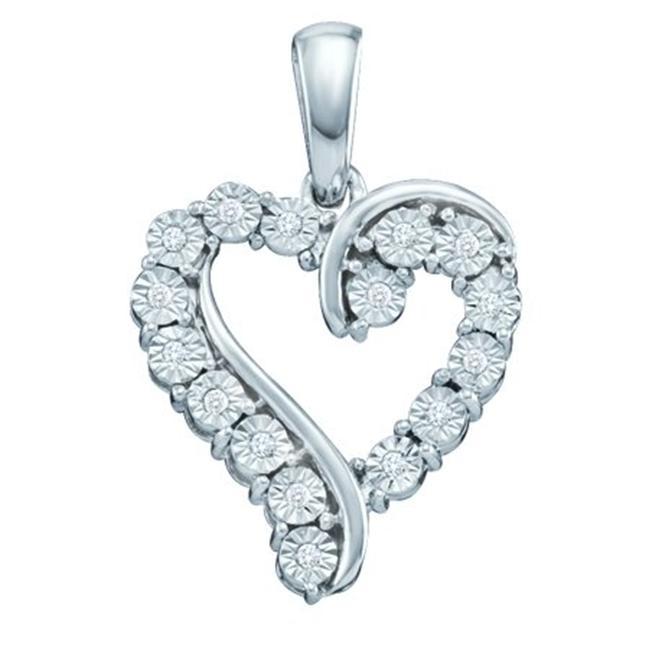 Gold and Diamonds PH2763-W 0. 05CT-DIA HEART PENDANT- Size 7