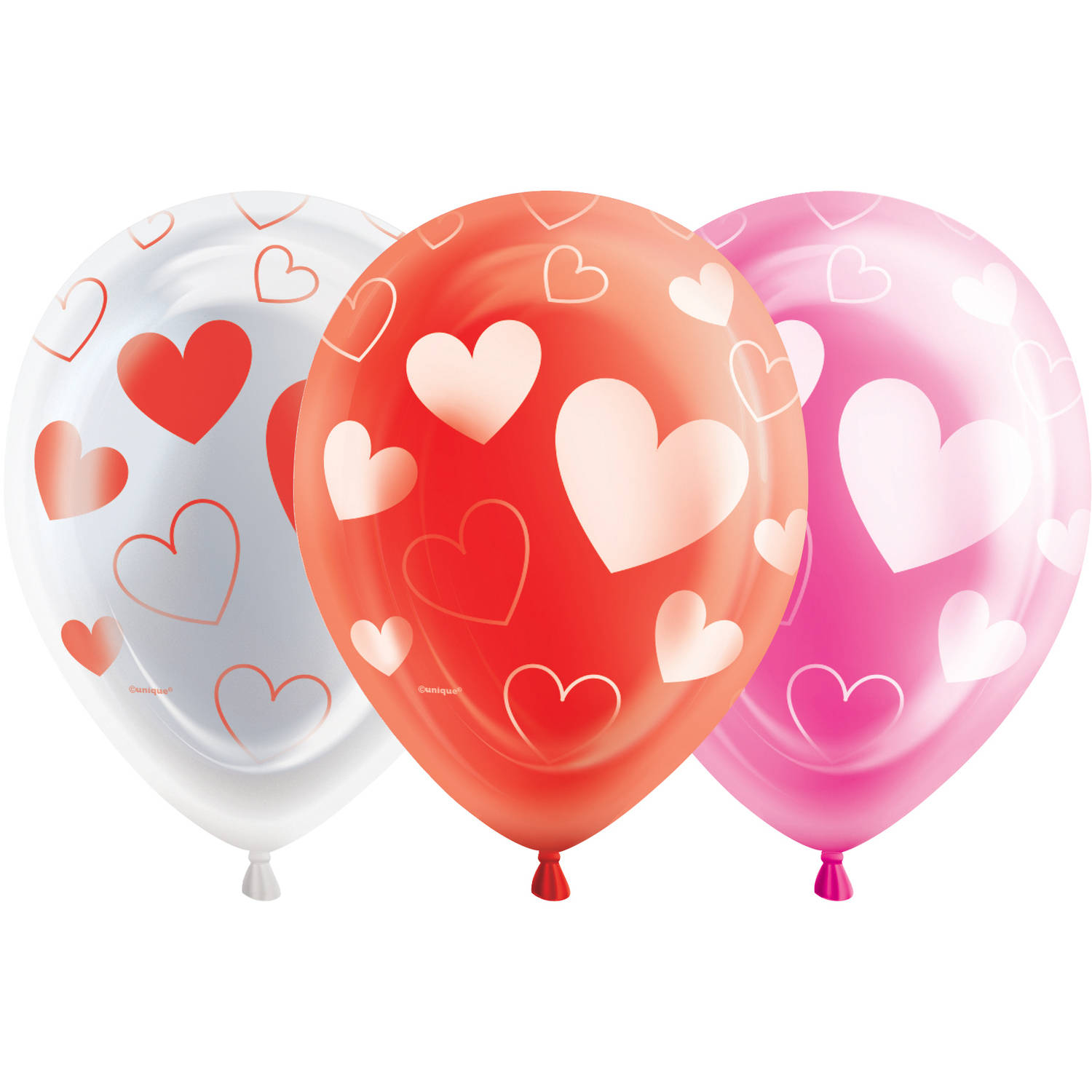 "10"" Hearts Valentine's Day LED Light Up Balloons, 5ct"