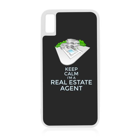 Keep Calm I'm a Real Estate Agent White Rubber Case for iPhone XR - iPhone XR Phone Case - iPhone XR