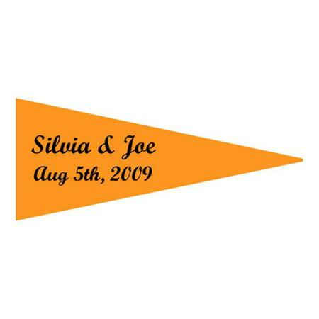 Pack Laser Stickers Flag Design - Weddingstar 8606-79 Boat Flag Stickers- Mocha Mousse- pack of 36