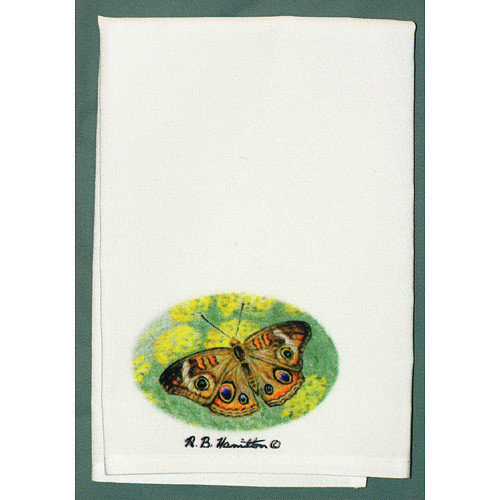 Betsy Drake Interiors Butterfly Buckeye Hand Towel (Set of 2)