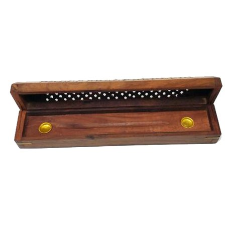 - Madina Jali Star Design Coffin Box Shaped Incense Stick Holder & Burner [11