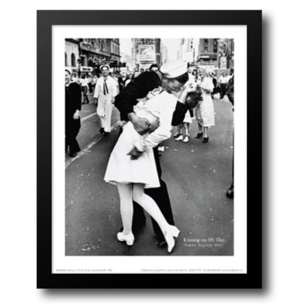 (Kissing on VJ Day, Times Square, NYC 15x18 Framed Art Print by Eisenstaedt, Alfred)