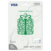 Vanilla Visa $200 Specialty Green Scroll Box Gift Card