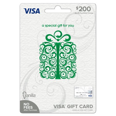Vanilla Visa $200 Specialty Green Scroll Box Gift (Old Navy Visa Credit Card Customer Service Number)
