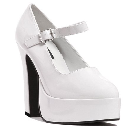 5 Inch Women's Sexy Mary Jane Shoes Mid Platform Chunky Heel Shoe