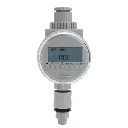 White Solar Power LCD Screen Garden Irrigation Control Auto Water Saving Irrigation Controller Digital Watering Timer Auto Water Timer