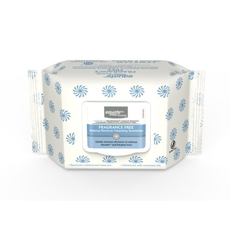 (3 Pack) Equate Beauty Fragrance Free Makeup Remover Wipes, 40 Ct