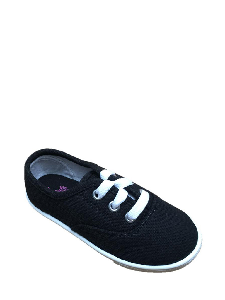 Faded Glory Toddler Girls' Lace Up Canvas Casual Shoe by PU TIAN CITY YONG FENG FOOTWEAR CO.,LTD