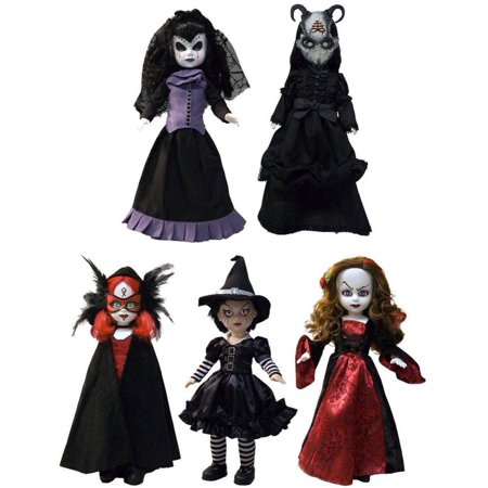 Season of the Witch Series 26 Living Dead Dolls #26 | Samhain - Beltane - Holle Katrina - Lamenta - Lammas | (Deluxe Collector Set of 5) Coffin Gothic Horror (14 Deluxe Framed Collectible)