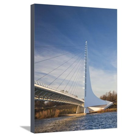 Architect Santiago Calatrava, Sundial Bridge, Turtle Bay Park, Redding, California, Usa Stretched Canvas Print Wall Art By Walter