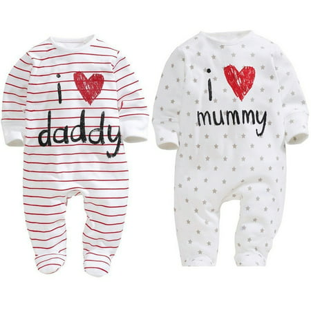 Funny Baby Boy Girls Newborn Infant Romper Hat Bodysuit Outfit Clothing Set