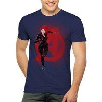 Black Widow Avengers Marvel Men's and Big Men's Graphic T-shirt
