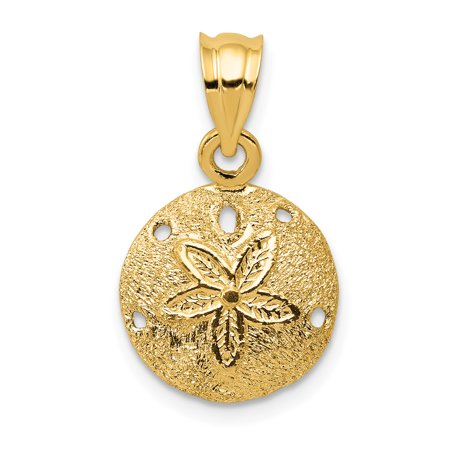 14k Yellow Gold Solid Sand Dollar Sea Star Starfish Pendant Charm Necklace Man Shore Shell Fine Jewelry For Dad Mens Valentines Day Gifts For Him - image 6 de 6