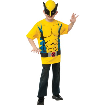 Child's Marvel Comics Universe X-Men Wolverine T-Shirt With Mask - X Man Costume