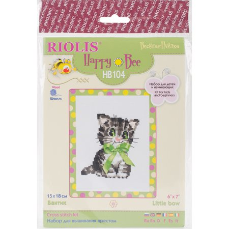 """Bow Counted Cross Stitch Kit-6""""X7"""" 10 Count - image 1 of 1"""