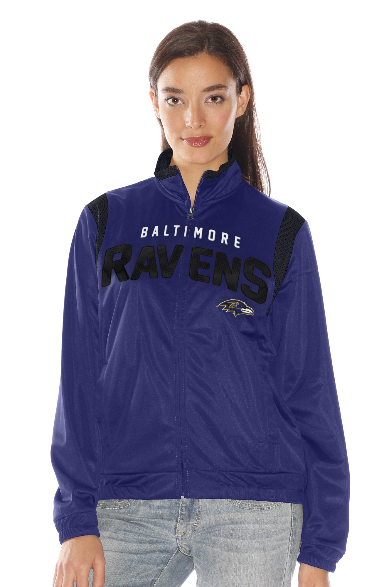 "Baltimore Ravens Women's NFL ""Primetime"" Full Zip Team Color Track Jacket by G-III Sports"